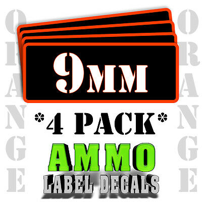 $ CDN5.31 • Buy 9mm Ammo Label Decals For Ammunition Case 3  X 1  Can Stickers 4 PACK -OR