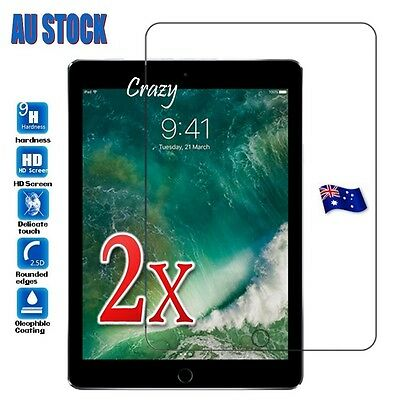 AU10.99 • Buy 2X Apple IPad Air 1 2 5th 6th Gen 9.7  2018 2017 Tempered Glass Screen Protector
