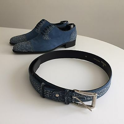 $ CDN1588.68 • Buy Artioli Blue Crocodile Shoes & Artioli Crocodile Belt Size 38 / 95  CM