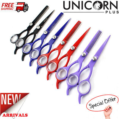 5.5  Professional Hairdressing Scissors Set Barber Hair Cutting Thinning Shears • 5.99£