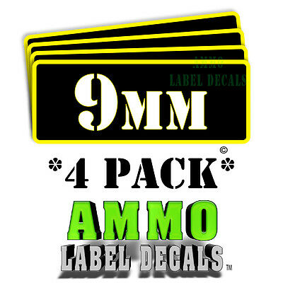 $ CDN5.31 • Buy 9mm Ammo Label Decals For Ammunition Case 3  X 1  Can Stickers 4 PACK -YWbkRD