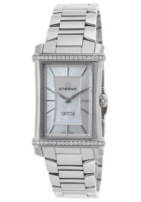 Eterna 2410-48-66-0264 Women's Diamond Contessa Stainless Steel White Mop Watch • 596.59£