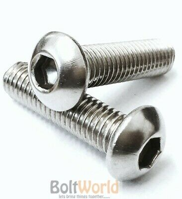 £2.94 • Buy 1/4 , Unc Socket Button Head Bolts A2 Stainless Steel Screws, Harley Imperial