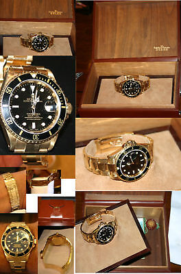 $ CDN46535.63 • Buy Rolex Submariner All 18k Gold Black Face /box/papers -191.7  Grams 6 Extra Links