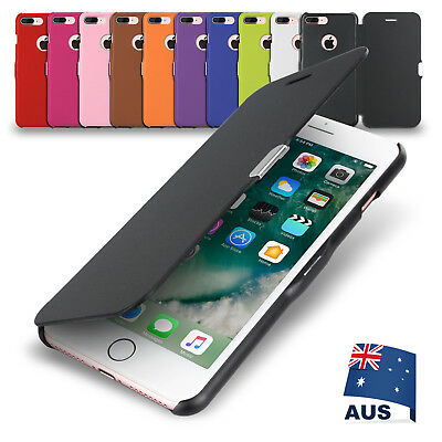 AU5.95 • Buy IPhone X 8 Plus 7 6S 6 5SE Ultra Slim Magnetic Flip Leather Case Cover For Apple