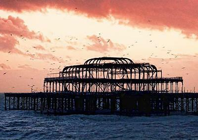 £8.99 • Buy BRIGHTON WEST PIER POSTER Beach Sunset Sea Wall Art Print Picture Photo A3 A4