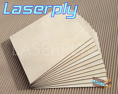 £26 • Buy Birch PLywood Sheets From A4, 3mm Or 6mm Laserply Craft, Laser, Pyrography, FSC