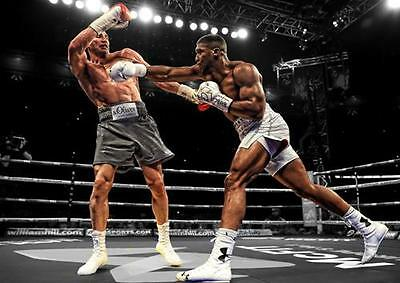 ANTHONY JOSHUA POSTER Klitschko Boxing Wall Art Print Pic Photo A3 A4 • 8.99£