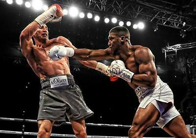 ANTHONY JOSHUA POSTER Klitschko Boxing Wall Art Print Picture Photo A3 A4 • 8.99£