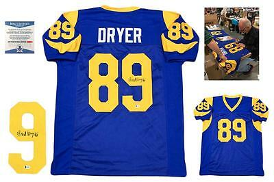 $ CDN137.84 • Buy Fred Dryer Autographed SIGNED Custom Jersey - Beckett Authentic W/ Photo - Blue