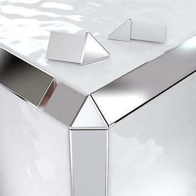 Vroma Triangle Tile Trim Bright/Brushed Silver/Copper Corner Piece • 3.99£