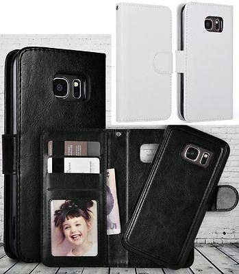 $ CDN14.09 • Buy Samsung Galaxy S8 Leather Wallet Case / WHITE / Detachable Magnetic Phone Holder