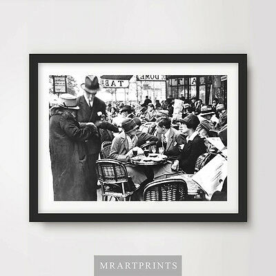 £11.99 • Buy VINTAGE CAFE PHOTOGRAPH Art Print Poster Food Drink Picture Dining 1920s 1910s