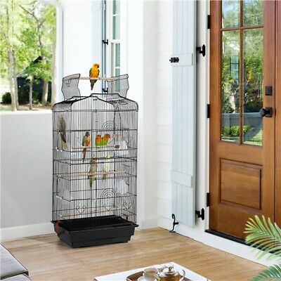 £34.69 • Buy Open Top Large Metal Bird Cage For Budgie Parrot Canary Cockatiel 104cm High