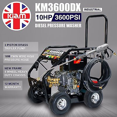 KIAM DIESEL PRESSURE WASHER KM3600DX JET WASH Industrial Quality Commercial • 1,015£