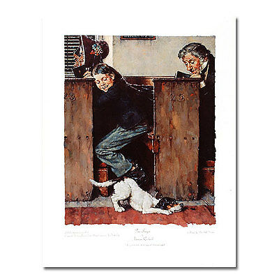 """$ CDN62.42 • Buy """"HE SPIED THE BEETLE""""  By NORMAN ROCKWELL - LIMITED EDITION"""
