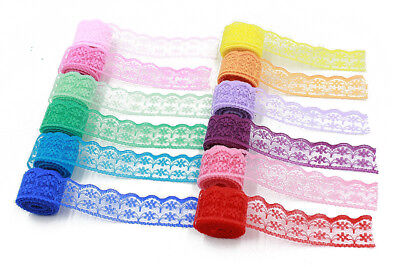 Lace Fabric Trimming Width 20mm Lace Ribbon Embroidered Net Lace Trim For Sewing • 1.39£