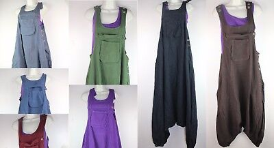 £29.99 • Buy Alibaba Dungarees Baggy Jumpsuit Hippy Harem Pant Overall Strap Cargo Ethnic RP2