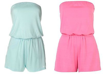 £8.95 • Buy Ladies Womens Miso Playsuit Jump Suit Jumpsuit Holiday Shorts All-in-one Set