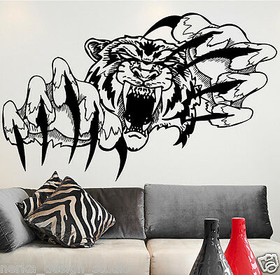 WALL STICKERS TIGER Vinyl Wall Art Decal Home Wall Decor WALL QUOTE STICKERS N13 • 15.87£