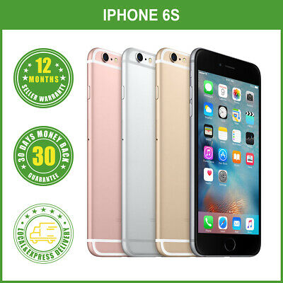 AU285.95 • Buy New Sealed Box Apple IPhone 6S 16GB 64GB 128GB Factory Unlocked LOCAL DELIVERY