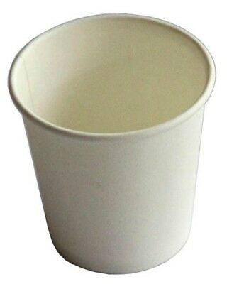 AU21.95 • Buy White 4oz Single Wall 118ml Paper Coffee Cups X 100 Disposable Hot Cup Takeaway