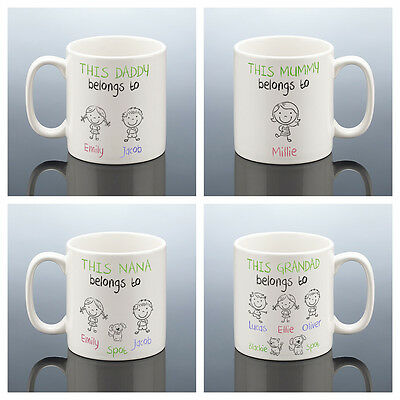 THIS GRANDMA BELONGS MUG GRANDAD Christmas Gift Nana Daddy CUP Nan Dad Birthday • 7.99£