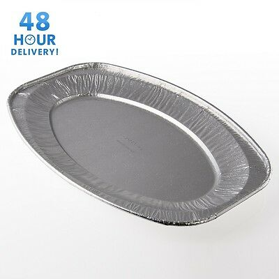 Oval Aluminium Foil Tray Buffet Disposable Party Serving Food Platters • 11.91£