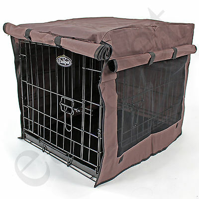 £16.99 • Buy Dog Pet Cage Crate Cover 5 Sizes Waterproof Heavy Duty Chocolate Brown Easipet