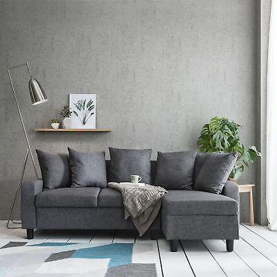 Corner Sofa Left & Right Hand Side Grey • 259.99£