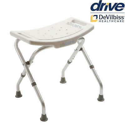 Folding Aluminium Bath And Shower Seat Stool Chair Adjustable Height Mobility • 22.50£