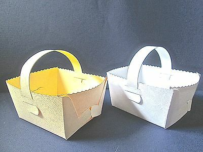 5 Wedding/Baby Shower/ Easter Basket With Handle Favour Gift Box UP TO 30% DISC • 2.95£
