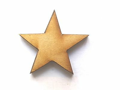 10x WOODEN STAR SHAPES Gift Tag Craft Card Embellishment Scrapbook Favours Make • 2.75£
