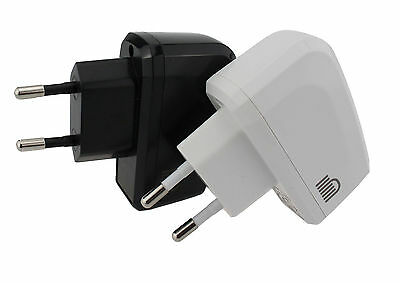 European EU 2 Pin USB Travel Adaptor Power Plug Socket White Or Black • 3.99£