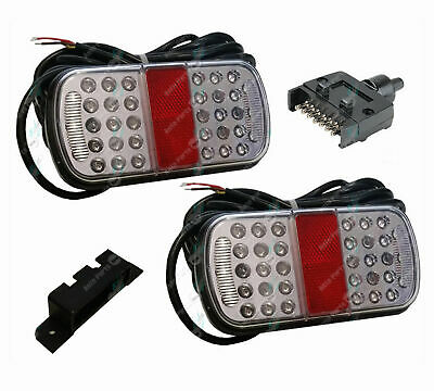 AU81.95 • Buy LED Trailer Tail Lights Kit Stop Tail Indicator ADR Approved Submersible 10-30v