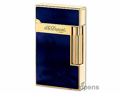 AU1727.84 • Buy S.T. Dupont Ligne 2 Atelier Lighter - Dark Blue Chinese Lacquer & Gold (016134)