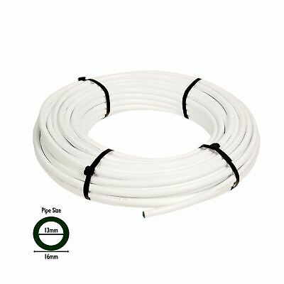 WHITE 13mm (1/2) Inch (ID) X 10M LDPE Irrigation Pipe - Garden Supply Watering • 14.45£