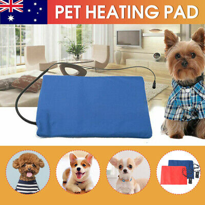 AU26.99 • Buy Pet Electric Heating Pad Heated Mat Warmer Blanket Bed For Dog Cat Puppy Bunny