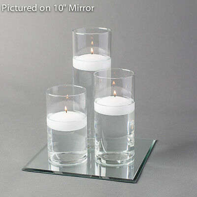 $29.99 • Buy Eastland Square Mirror And Cylinder Vase With 3  Floating Candle Set Of 4