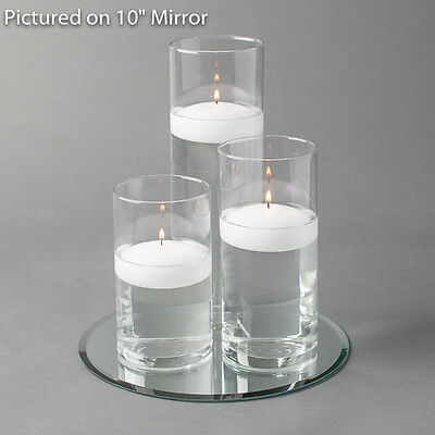 $29.99 • Buy Eastland Round Mirror And Cylinder Vase With 3  Floating Candles Set Of 4
