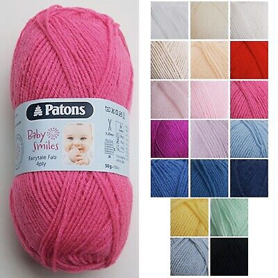 Baby Smiles Fairytale Fab 4Ply By Patons * Many Colours * 50g • 1.30£