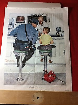 $ CDN19.14 • Buy Norman Rockwell's   THE RUNWAY  -SEPTEMBER 20,1958  - CLOTH LITHOGRAPH  1972  CP
