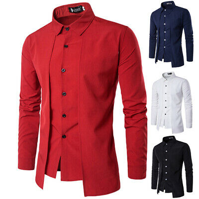 £13.54 • Buy New Mens Chinese Kung Fu Top T-shirt Long Sleeve Slim Button Blouse Stand Collar