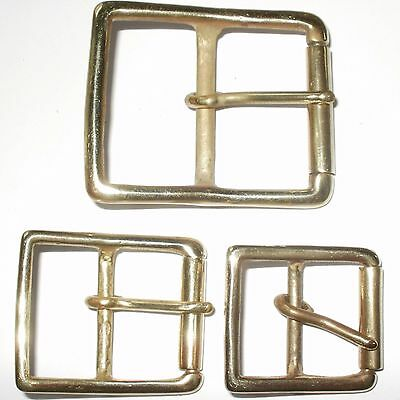 £11.95 • Buy Solid Brass Full Roller Military Style Belt Strap Buckle 50mm - 40mm - 32mm