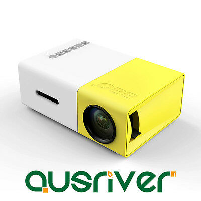 AU99.99 • Buy HD LED Portable Mini Pocket Projector Home Cinema HDMI USB AV 1080P