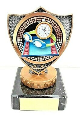 £7.99 • Buy Swimming Trophy, Solid Plastic Top,  Marble Base, Size 9.5 Cm  Free Engraving