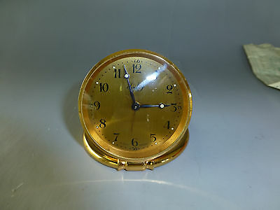 AU805.98 • Buy Imhof Travel Clock 8 Day Made In Switzerland In Leather Case + Certificate