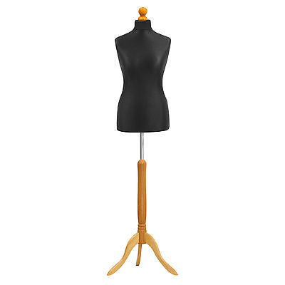 £39 • Buy Tailors Dummy 10/12 Black Dressmakers Bust Retail Display Fashion Mannequin ❤