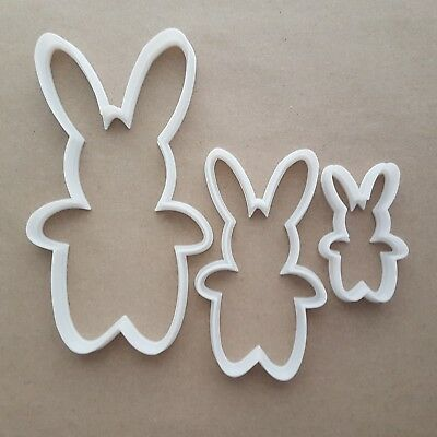 Rabbit Bunny Hare Pet Farm Shape Cookie Cutter Animal Biscuit Pastry Stencil • 8.49£