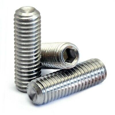 $3.74 • Buy M6 Stainless Steel Set Screws With Cup Point, Socket (Allen Key) Drive, DIN 916